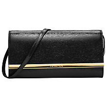 Buy MICHAEL Michael Kors Lana Leather Clutch Bag, Black Online at johnlewis.com