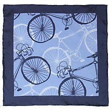 Buy John Lewis Cycle Print Pocket Square, Blue Online at johnlewis.com