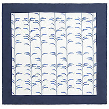 Buy John Lewis Bamboo Print Pocket Square, White/Navy Online at johnlewis.com