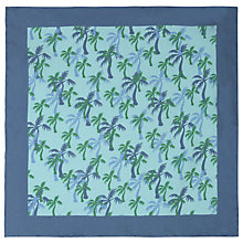 Buy John Lewis Palm Tree Pocket Square, Green/Blue Online at johnlewis.com