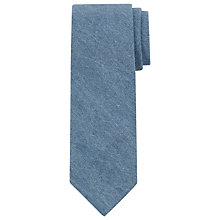 Buy JOHN LEWIS & Co. Mills Chambray Hand Rolled Tie, Light Blue Online at johnlewis.com