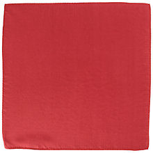 Buy John Lewis Plain Silk Pocket Square Online at johnlewis.com