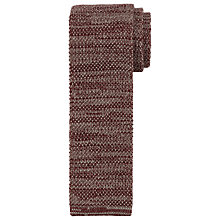 Buy JOHN LEWIS & Co. Melange Knit Wool Tie, Burgundy Online at johnlewis.com