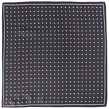 Buy John Lewis Polka Dot Silk Pocket Square Online at johnlewis.com