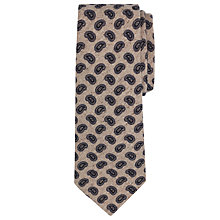 Buy JOHN LEWIS & Co. Paisley Print Wool Blend Tie, Ecru/Navy Online at johnlewis.com