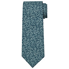 Buy JOHN LEWIS & Co. Coral Silk Tie, Green Online at johnlewis.com