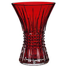 Buy Waterford Lismore Diamond Vase, H25cm, Ruby Online at johnlewis.com