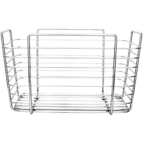 Buy bliss linear wire bathroom storage basket john lewis for Bathroom storage ideas john lewis