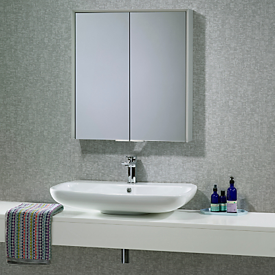 Roper Rhodes Compose Double Illuminated Bathroom Cabinet with Bluetooth Connectivity