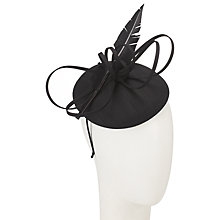 Buy John Lewis Kiki Shantung Pillbox Fascinator, Black Online at johnlewis.com