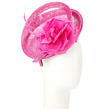 Buy Whiteley Rosa Sinamay Rose Disc Fascinator, Fucshia Online at johnlewis.com