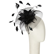 Buy John Lewis Sara Mini Disc Fascinator, Black Online at johnlewis.com