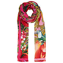 Buy Ted Baker Jewel Paisley Border Silk Scarf, Pink Online at johnlewis.com