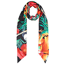 Buy Ted Baker Toucan Skinny Scarf, Black Online at johnlewis.com