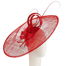 Buy John Lewis Pip Sinamay Disc Bow Side Up Hat Online at johnlewis.com