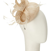 Buy John Lewis Diamante Cat Pillbox Fascinator, Champagne Online at johnlewis.com