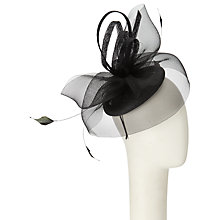 Buy John Lewis Gem Loop Pillbox Fascinator, Black Online at johnlewis.com