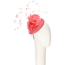 Buy John Lewis Luce Feather Pillbox Fascinator, Coral Online at johnlewis.com