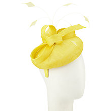 Buy John Lewis Cat Round Pillbox Occasion Hat, Lemon Online at johnlewis.com
