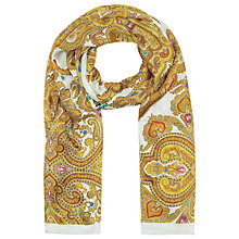 Buy Ted Baker Jewel Paisley Border Silk Scarf, Green Online at johnlewis.com