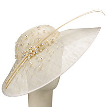 Buy John Lewis Talia Pearl Disc Occasion Hat, Ivory Online at johnlewis.com