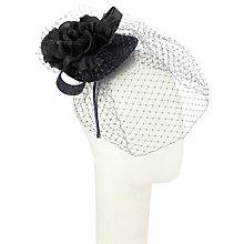 Buy John Lewis Camille Flower Occasion Hat, Navy Online at johnlewis.com