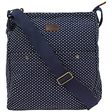 Buy Fat Face Spotted Jacquard Cross-body Bag, Navy Online at johnlewis.com