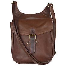 Buy Fat Face Oiled Leather Cross-body Bag Online at johnlewis.com