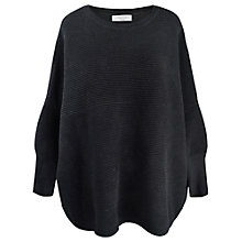 Buy Paisie Ribbed Jumper, Black Online at johnlewis.com