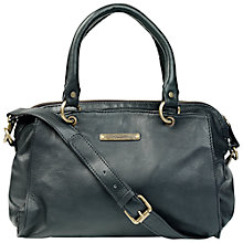 Buy Fat Face Darthaven Leather Shoulder Bag, Black Online at johnlewis.com
