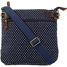 Buy Fat Face Spot Jacquard Mini Cross Body Bag, Navy Online at johnlewis.com