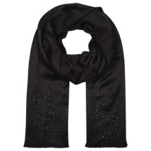 Buy Planet Beaded Scarf, Black Online at johnlewis.com