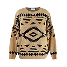 Buy Paisie Aztec-Print Jumper, Caramel/Black Online at johnlewis.com