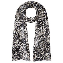 Buy Kaliko Animal Print Scarf, Multi Grey Online at johnlewis.com
