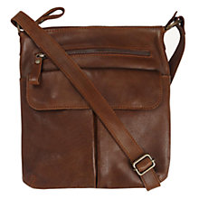 Buy Fat Face Leather Cross Body Bag, Chocolate Online at johnlewis.com