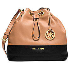 Buy MICHAEL Michael Kors Jules Drawstring Leather Shoulder Bag Online at johnlewis.com