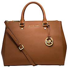Buy MICHAEL Michael Kors Sutton Large Leather Satchel Bag, Luggage Online at johnlewis.com
