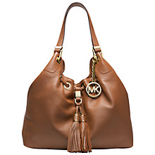 Buy MICHAEL Michael Kors Camden Large Drawstring Leather Bucket Bag, Luggage Online at johnlewis.com