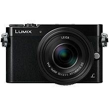 "Buy Panasonic Lumix DMC-GM5 Compact System Camera with 15mm Lens, HD 1080p, 16MP, Wi-Fi, EVF, 3"" Touch Screen, Black with Memory Card Online at johnlewis.com"