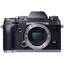 "Buy Fujifilm X-T1 Compact System Camera, HD 1080p, 16.3MP, Wi-Fi, OLED EVF, 3"" LCD Screen, Body Only, Black & Silver with Memory Card Online at johnlewis.com"