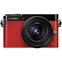 "Buy Panasonic Lumix DMC-GM5 Compact System Camera with 12-32mm Lens, HD 1080p, 16MP, Wi-Fi, EVF, 3"" Touch Screen, Red with Memory Card Online at johnlewis.com"