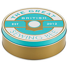 Buy Great British Sewing Bee Medium Tin, Blue Online at johnlewis.com