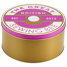 Buy Great British Sewing Bee Large Tin, Purple Online at johnlewis.com