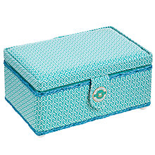 Buy The Great British Sewing Bee Sewing Basket, Turquoise, Medium Online at johnlewis.com