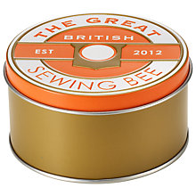 Buy Great British Sewing Bee Tin, Coral Online at johnlewis.com