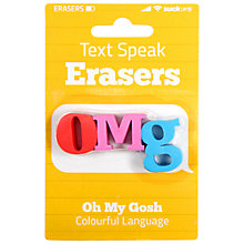 Buy Suck OMG Erasers Online at johnlewis.com