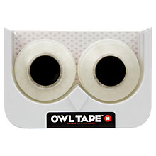 Buy Mustard White Owl Sellotape Dispenser Online at johnlewis.com