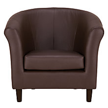 Buy John Lewis Juliet Leather Armchair, Denver Cedar Online at johnlewis.com