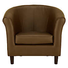 Buy John Lewis Juliet Leather Armchair, Luster Cappuccino Online at johnlewis.com