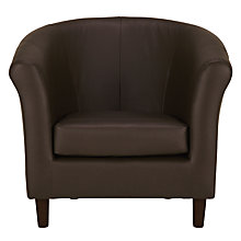 Buy John Lewis Juliet Leather Armchair, Rialto Bruno Online at johnlewis.com